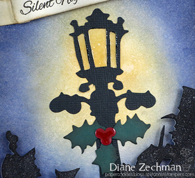 Sizzix Christmas tag lamp post diane zechman