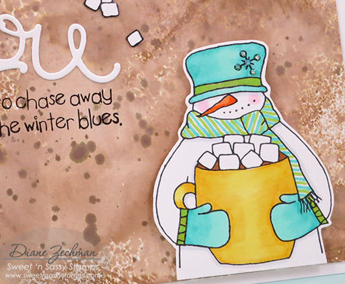 watercolor snowman soup close diane zechman