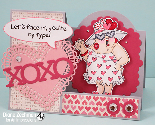 show the love step card diane zechman