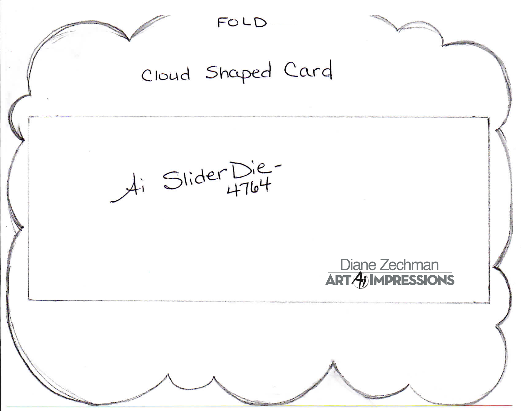cloud shaped card diane zechman copy