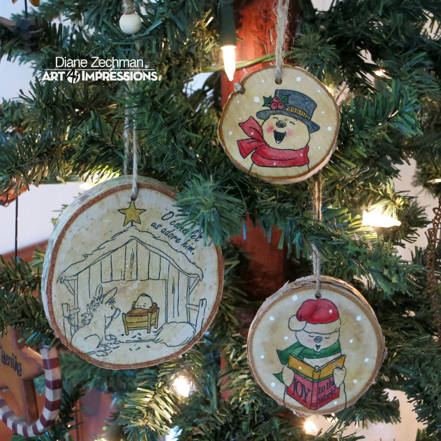 To begin, purchase some wood slices (or cut them yourself if you can!). I purchased these Birch Tags at Michael's and Hobby Lobby.